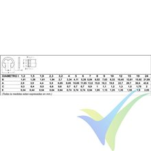 Arandela seguridad para eje 7mm, DIN-6799, 1 unidad