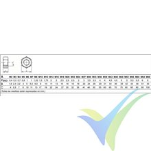 M3 hexagonal nut nylon DIN-934, 1 pc