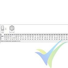 M4 hexagonal nut nylon DIN-934, 1 pc