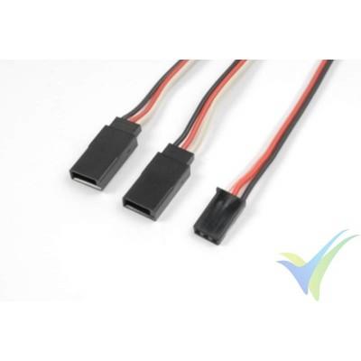 Cable Y para servos Futaba - 0.33mm2 (22AWG) 60 venillas - 30cm