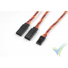 Cable silicona trenzado Y 15cm para servos JR/Hitec, 0.33mm2 (22AWG) 60 venillas, G-Force