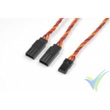 G-Force RC - Servo Y-Lead - HD Silicone Twisted - JR/Hitec - 22AWG / 60 Strands - 30cm - 1 pc