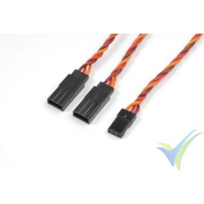 Cable silicona trenzado Y para servos JR/Hitec - 0.33mm2 (22AWG) 60 venillas - 30cm