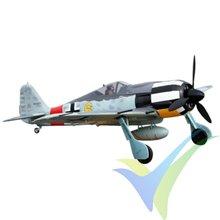 Combo avión FMS FW190-Y6 ARTF Camo 1400mm, 2550g