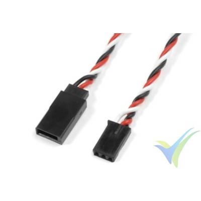 Cable trenzado prolongador de servo Futaba - 0.33mm2 (22AWG) 60 venillas - 15cm