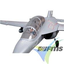 Combo avión FMS YAK 130 EDF 70mm ARTF, gris, 800mm, 1900g