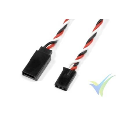Cable silicona trenzado prolongador de servo Futaba - 0.33mm2 (22AWG) 60 venillas - 20cm
