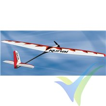Combo motovelero Great Planes Kunai 1.4M RxR, 1395mm, 565-610g