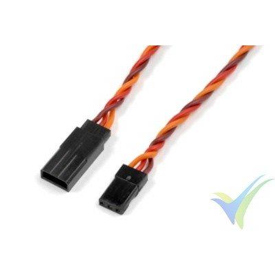 Cable silicona trenzado prolongador de servo JR/Hitec - 0.33mm2 (22AWG) 60 venillas - 10cm