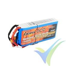 Batería LiPo Gens ace 5000mAh (37Wh) RX/TX 2S1P 200g Futaba