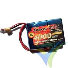 Batería LiPo Gens ace 4000mAh (29.6Wh) RX 2S1P 151g EHR