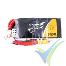 Batería LiPo Tattu - Gens ace 450mAh (3.33Wh) 2S1P 75C 28g XT30