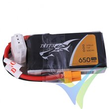 Tattu 650mAh 2S1P 75C 7.4V Lipo Battery Pack