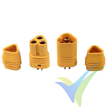 MT30 connector, gold plated, male and female, with insulating cap