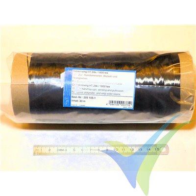Bobina 20m de mecha de carbono HTS40 1600 tex