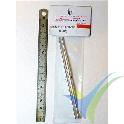 Varilla tensora 120mm de aluminio (Turnbuckle Pushrod), M3, 2 unidades