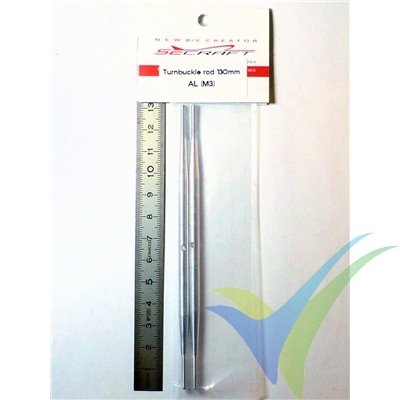Varilla tensora 130mm de aluminio (Turnbuckle Pushrod), M3, 2 unidades