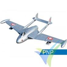 Combo avión Freewing de Havilland DH 112 Venom Silver PNP