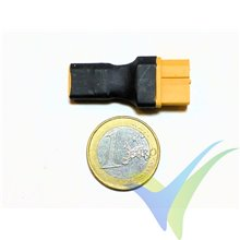 Connector adapter XT60 female to XT30 male, 5.5g