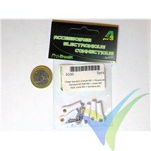 Rótula nylon M2 A2Pro 6100, bola con tornillo M2 pasante, 5 uds