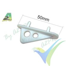 Nylon skid for wing or fuselage, A2Pro 5576, 2 pcs