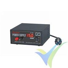 Fuente de alimentación ajustable Graupner 6459, 5-15V, 0-20A