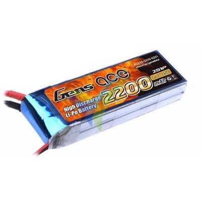 Batería LiPo Gens ace 2200mAh (16.28Wh) 2S1P 25C 135.6g