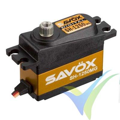 Servo digital Savox SH1250MG, 29.6g, 4.6Kg.cm, 0.11s/60º, 4.8V-6V