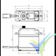 Servo digital Savox SA1231SG, 79g, 32Kg.cm, 0.14s/60º, 4.8V-6V
