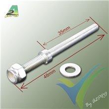 Eje acero 4mm para tren aluminio, A2Pro 4212, 2 uds