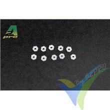 Tuerca M2 hexagonal nylon, A2Pro 27002, 10 unidades
