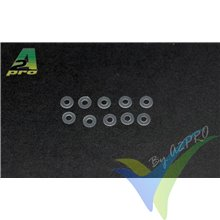 Arandela plana M2, nylon, A2Pro 28002, 10 uds