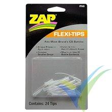Puntas largas ZAP FLEXI TIPS PT21, 24 unidades