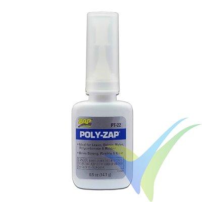 Adhesivo CA cabinas ZAP POLY-ZAP PT22, 14.1g