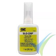 Adhesivo cianoacrilato (CA) Denso ZAP SLO-ZAP PT-20, 28.3 g