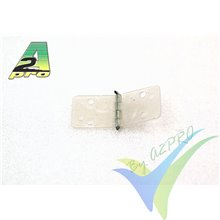 Bisagra nylon montada 28x10mm A2Pro 6444, 10 unidades