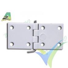 Nylon hinge 16x34mm A2Pro 6410, 10 pcs