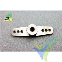 Brazo mando doble aluminio para varilla 3mm, A2Pro 4558