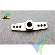 Brazo mando doble aluminio para varilla 4mm, A2Pro 4559