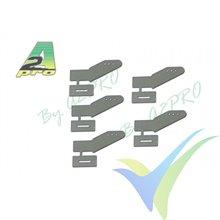 Escuadra de mando micro fibra vidrio 25mm (horn) para pegar, A2Pro 6548, 5 uds
