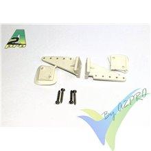 Escuadra de mando nylon 35mm (horn) estándar A2Pro 6554, 2 uds