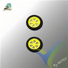 Rueda 30x5mm espuma A2Pro 4430, eje 1.5mm, 0.9g, 2 unidades