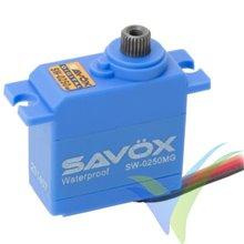 Servo digital Savox SW0250MG, waterproof, 25g, 5Kg.cm, 0.11s/60º, 4.8V-6V