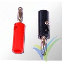 Bananas roja y negra 4mm A2Pro 14601, para cable de carga, 1 par