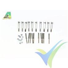 Kwik link con adaptador y tuerca M2, A2Pro 6018, 10 uds