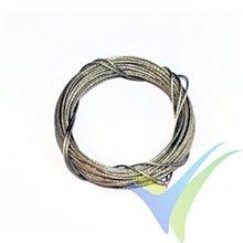 Cable acero trenzado forrado Ø0.7mm, A2Pro 6279, 5m