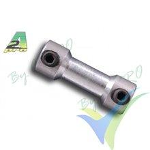 Empalme aluminio para varilla 2mm, A2Pro 6210, 2 uds