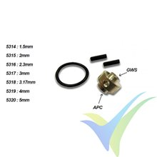 A2Pro 5316 prop saver adapter for APC & GWS, 2.3mm motor shaft