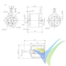Motor brushless Pro-Tronik/Motrolfly DM 2215-3100, 51g, 200W, 3100Kv