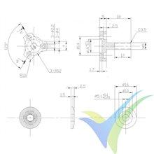 Motor brushless Pro-Tronik/Motrolfly DM 2220-1500, 71g, 200W, 1500Kv